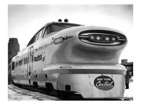 New York, Central Railroad Bullet Train.