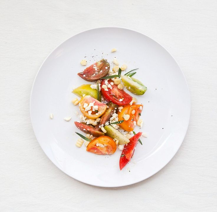 Heirloom Tomato Salad: Cut heirloom tomatoes into wedges. Toss with ...