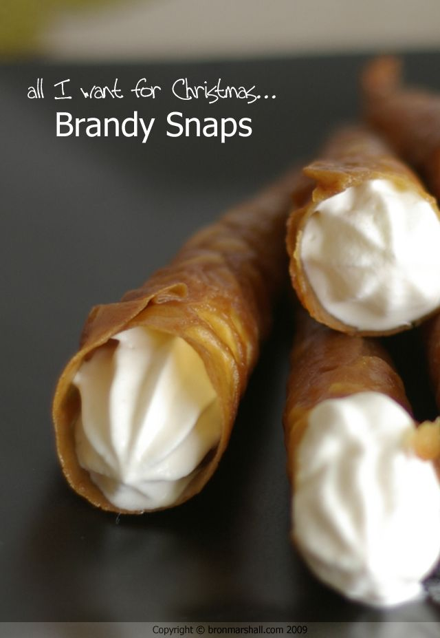 Brandy Snaps - haven't had these since I was a kid.