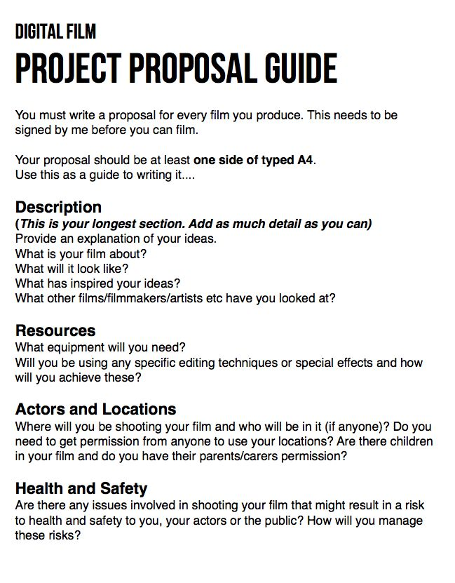 Film Proposal Template Film Sponsorship Proposal Sponsorship