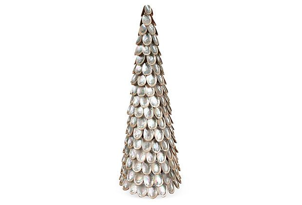 18 quot abalone shell cone tree on onekingslane com