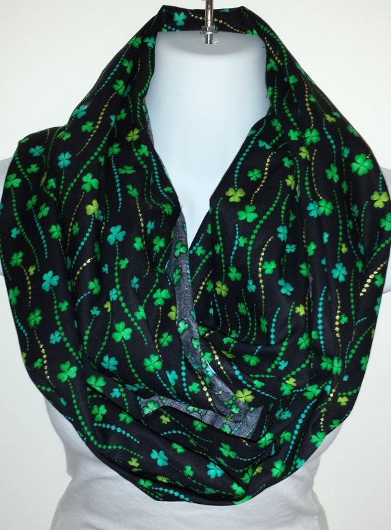 st pattys day scarf patricks day eternity loop