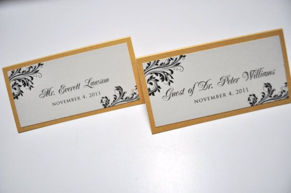 Wedding Place Cards For Reception