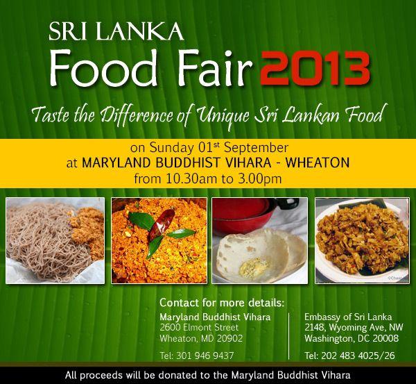 washington dc invites all to sri lanka food festival 2013 at maryland