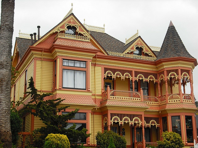 This lovely home, the Gingerbread Mansion in Ferndale, CA, is almost a mirror image of Mary-Alice Wentworth's home. Thea's new adventure  opens at the Wentworth Mansion for a Quilt Show Kickoff Soiree. Everyone is having a grand time...until??? Oh-no! You'll just have to read the book. :-)
