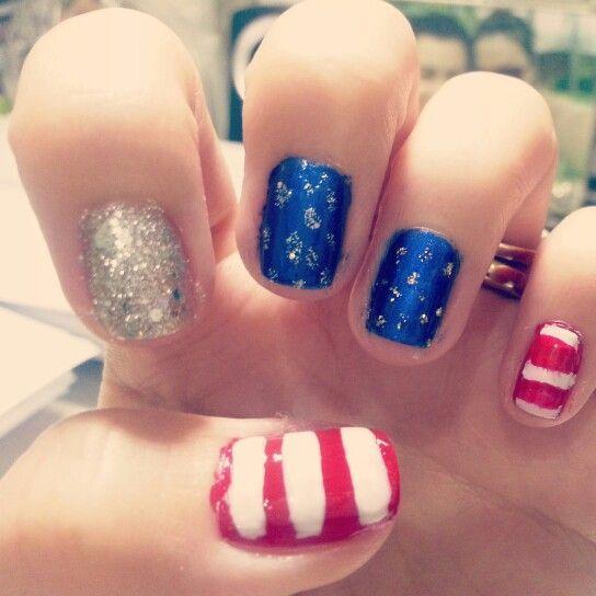 fourth of july nails diy