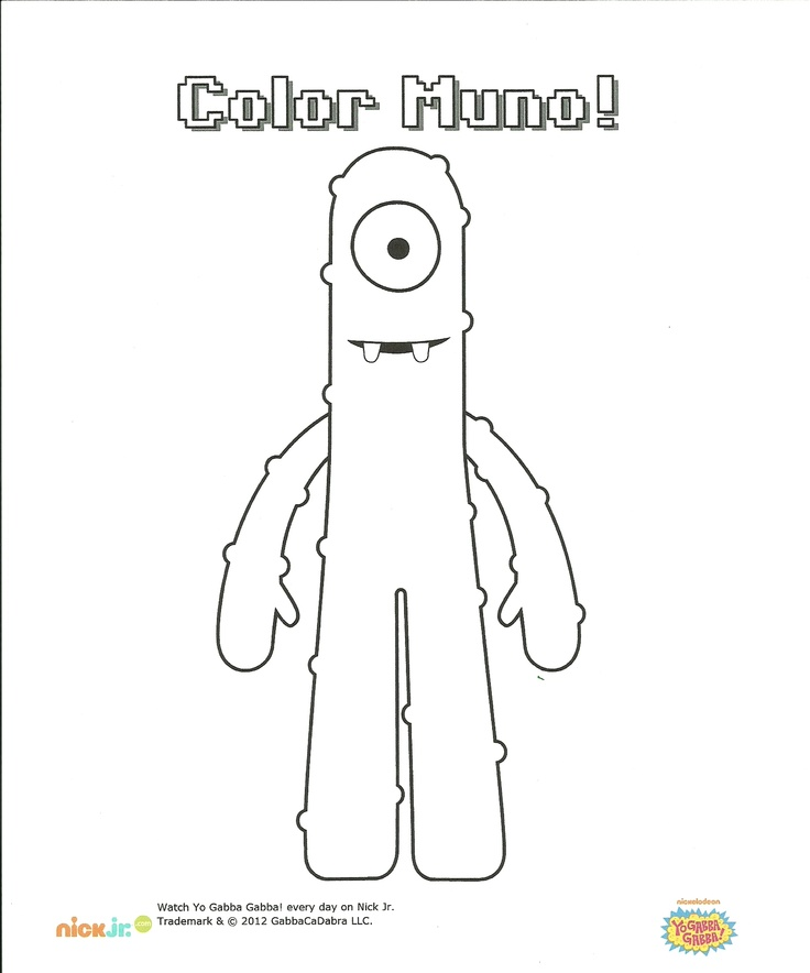 Pin Foofa Colouring Pages On Pinterest Foofa Coloring Page
