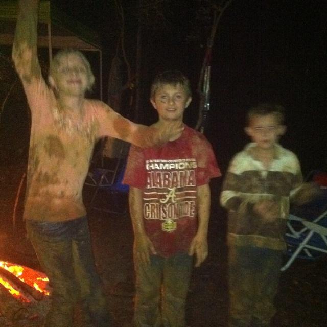 We're not afraid to get muddy!!