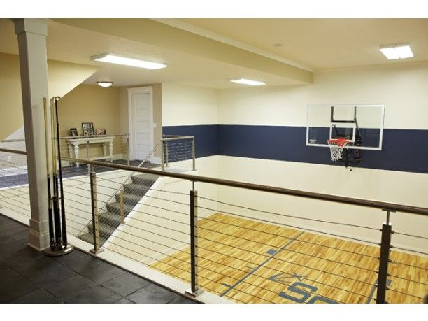 Here 39 S The Basement Sport Court Yes Really Inside Plan