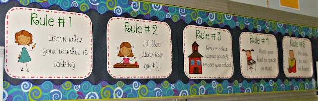 class rules & matching gestures- whole brain teaching inspired :)