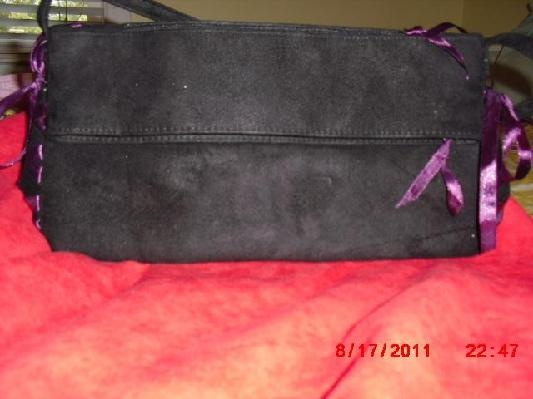 Black Suede Purse from Victoria's Secret FREE S/H