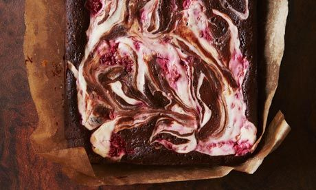Dark Chocolate Brownies with Raspberry Goat's Cheese Swirl from The ...