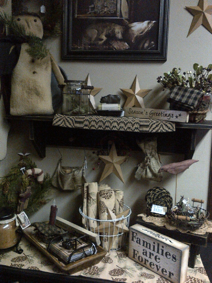 Country Christmas Home Decor Country Primitive Pinterest