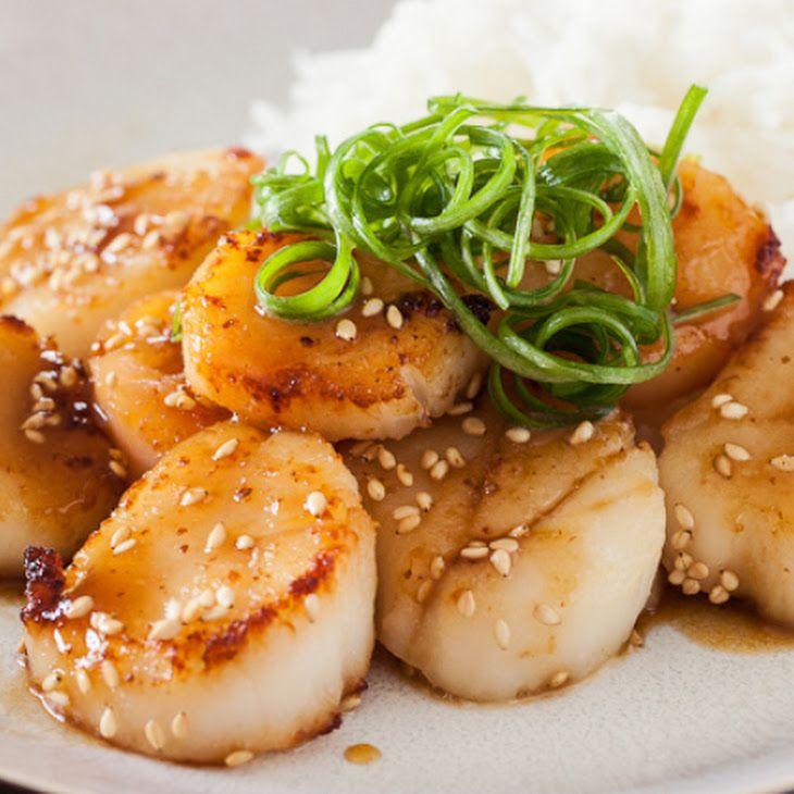 Scallop with Mustard Miso Sauce Recipe | Food | Pinterest