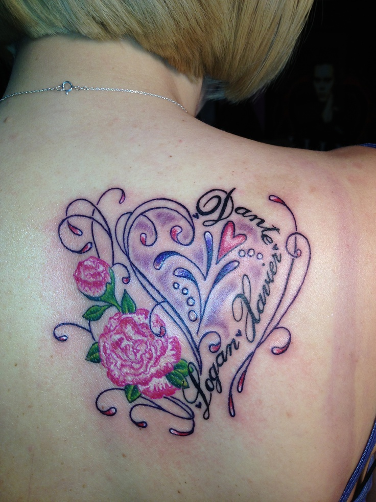 Tattoo for her 3 sons by jessica smith tattoos i 39 ve for Tattoos for her