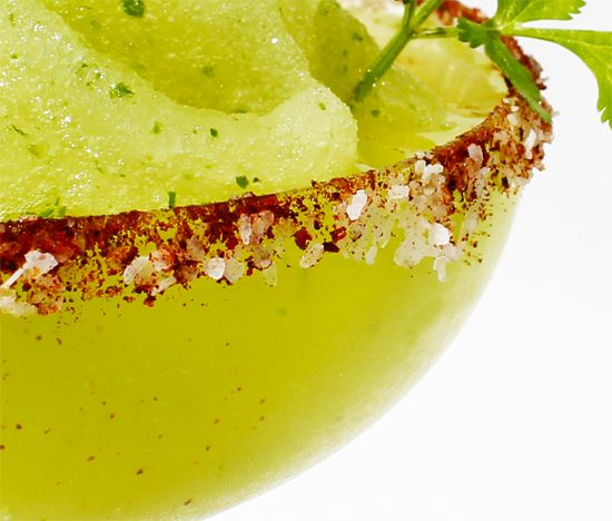 cilantro & jalpeño margarita. i can't decide if this is a good idea or not.