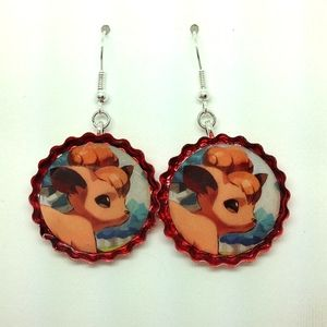 Vulpix earrings | Pok  mon | Pinterest