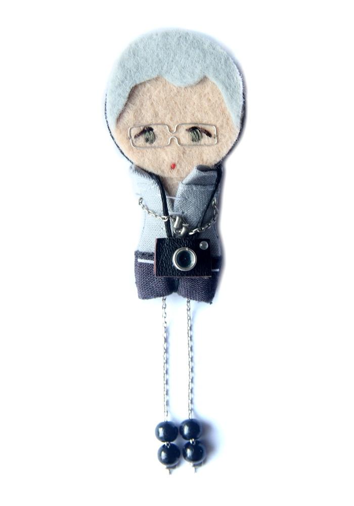 Фотограф.  # # Войлочные куклы фибула кукла # # пользовательские куклы минимальных