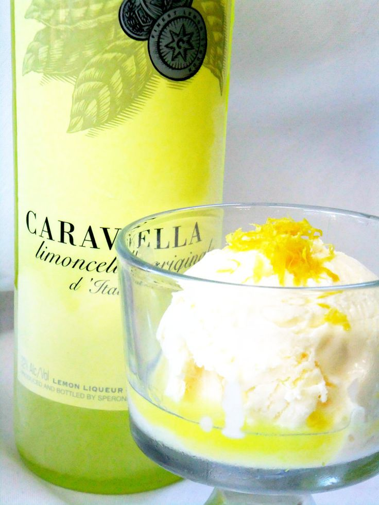 Limoncello drenched ice cream...