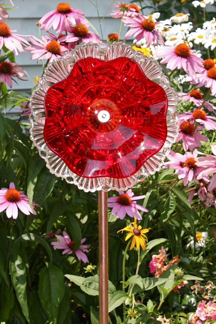 glass dish flowers glass flowers pinterest