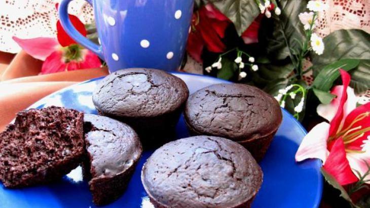 Healthy Deep Dark Chocolate Muffins | Dessert | Pinterest