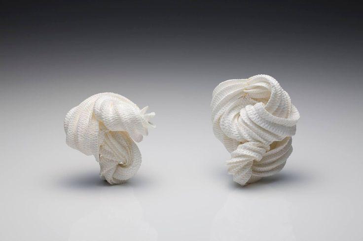 Kazumi Nagano - Brooch 2014 bambootape, nylonthread, gpld18