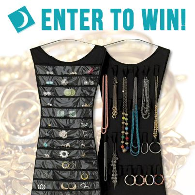 Our latest giveaway is a little black dress jewelry organizer