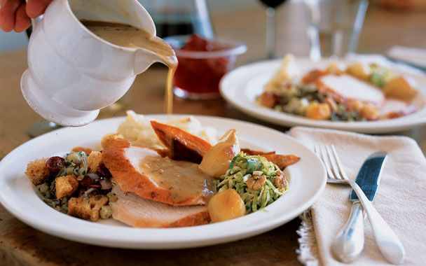 Roast Turkey with Cider Sage Gravy: 2000s Recipes + Menus : gourmet ...