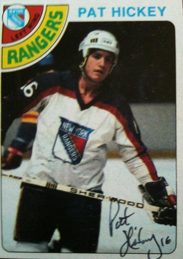 Pat Hickey (1/2) | NY Rangers Autographs | Pinterest
