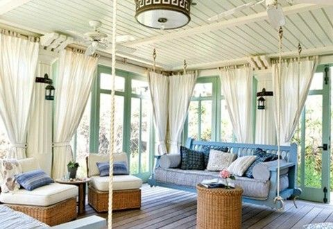 Curtains Sunroom For The Home Pinterest