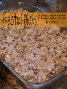 Frosted Flake Rice Krispie Treats www.burntapple.com #dessert #frostedflakes