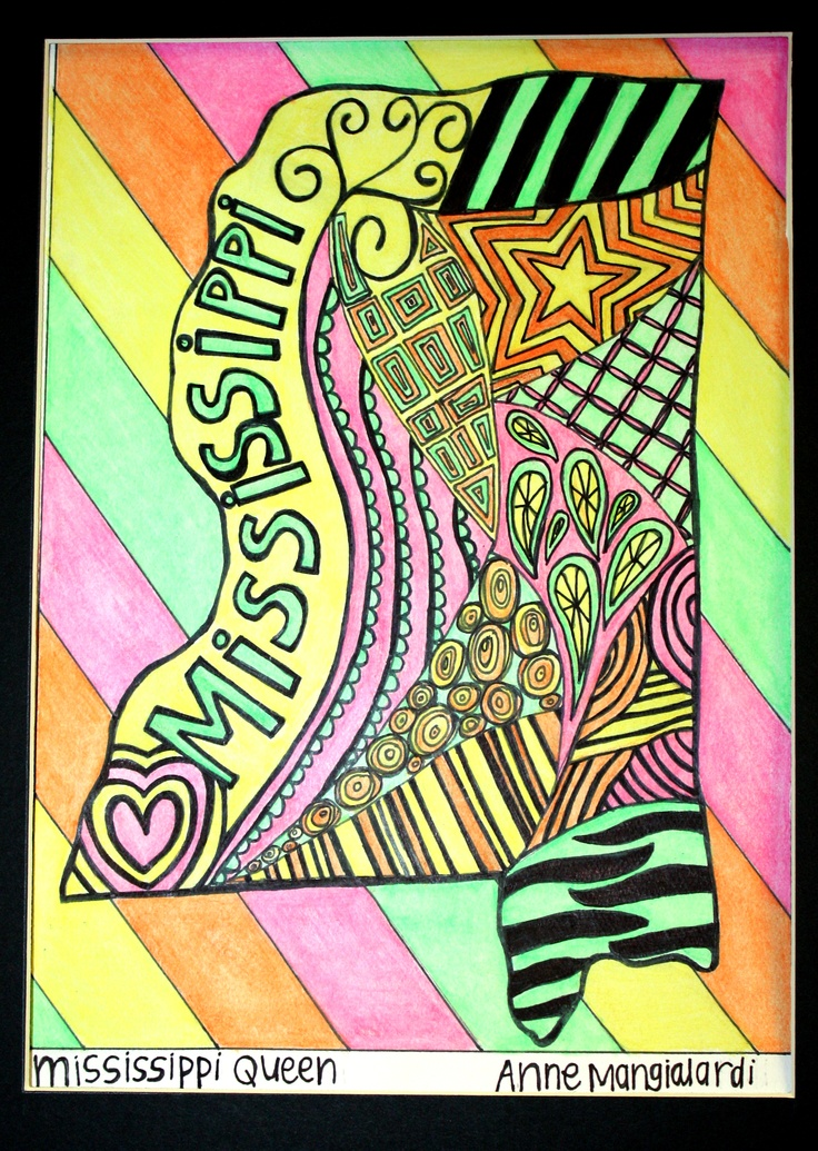 Zentangle Art With Color Colored Zentangles