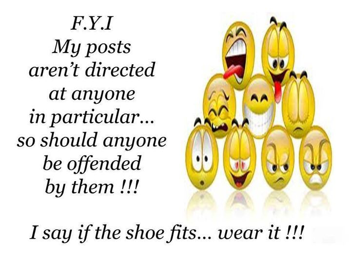 If the shoe fits, wear it