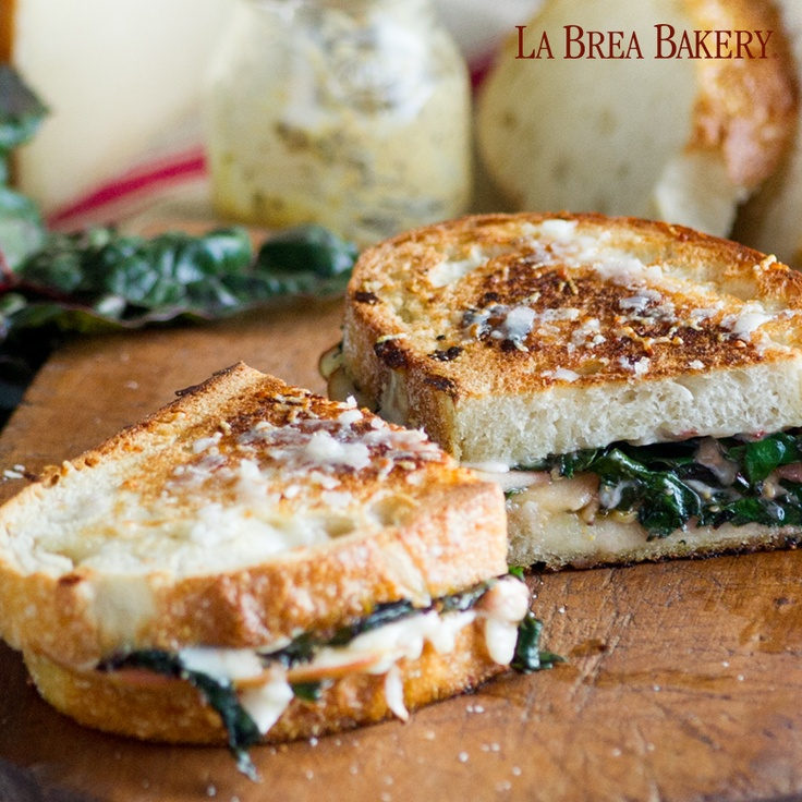 Gruyere with Sautéed Chard | Grilled Cheese Reunion | Pinterest
