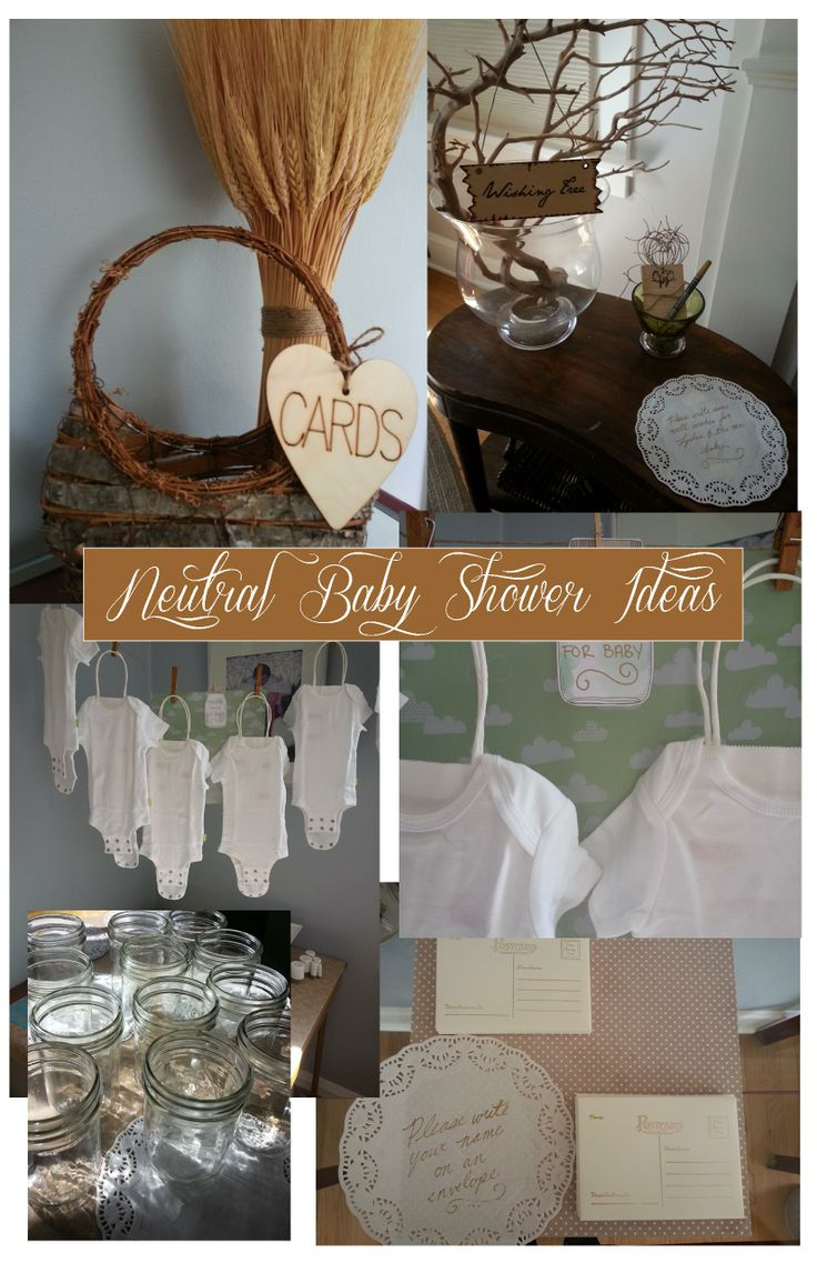 neutral baby shower party ideas pinterest