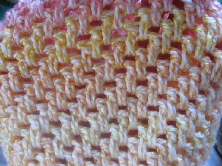 Meladoras Thick Crochet Mesh Stitch Crochet Stitches Pinterest
