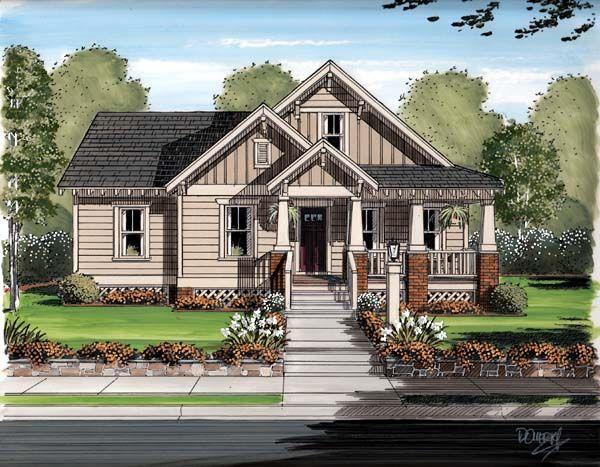Bungalow Cottage Craftsman House Plan 30504