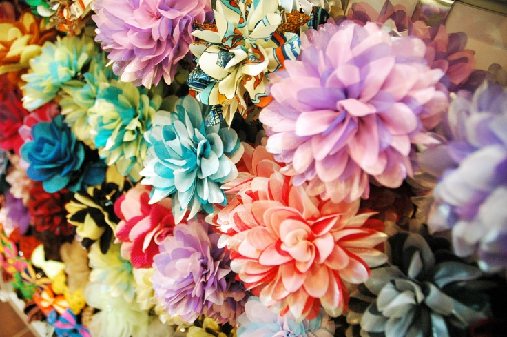 What Beautiful Flower Hair Accessories! They just look so Beautifully