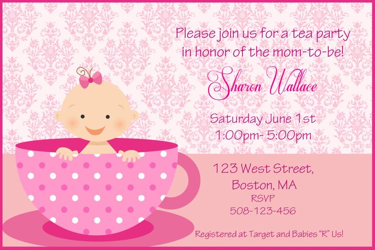 baby shower for baby girl invitations wording car pictures