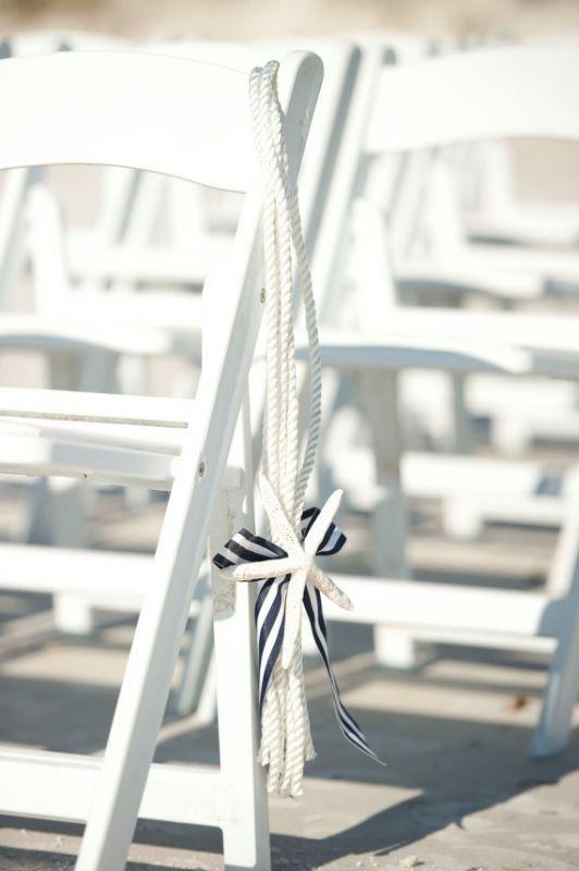 Diy Beach Wedding Ceremony Decorations : Nautical starfish ceremony decorations i do