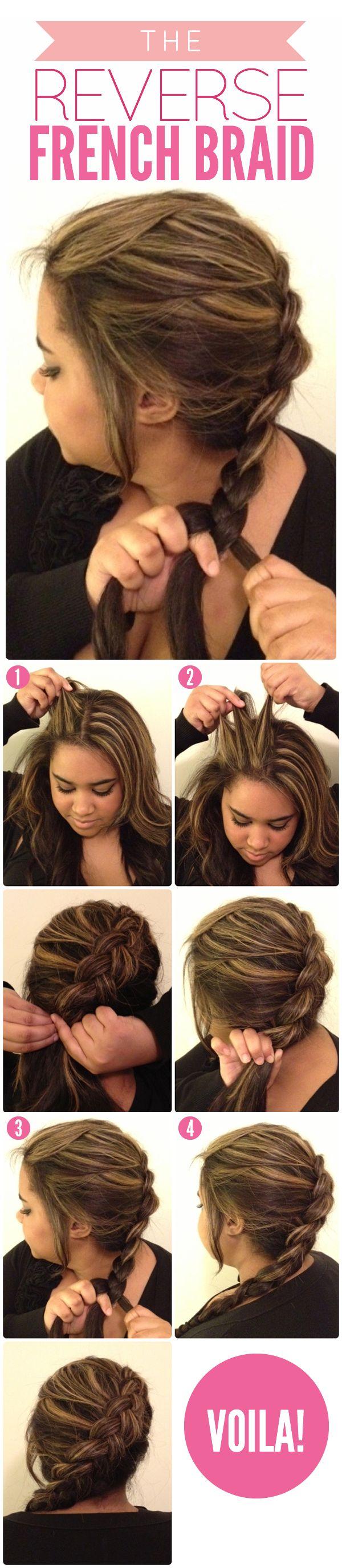 Лёгкие косы на каждый день своими руками на средние волосы