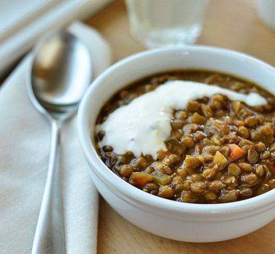 Easy Weeknight Recipe: Lentil Soup with Lemon Yogurt Cream — Recipes ...