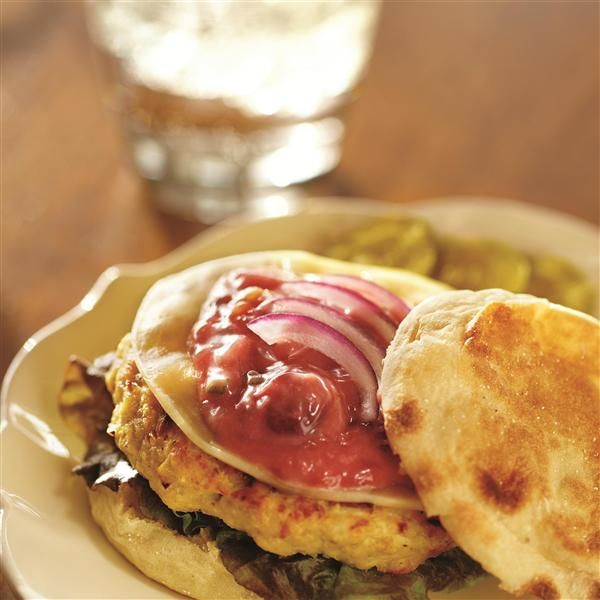 Chicken Bacon Burgers with Cherry-Chive Mayonnaise from Smucker's®
