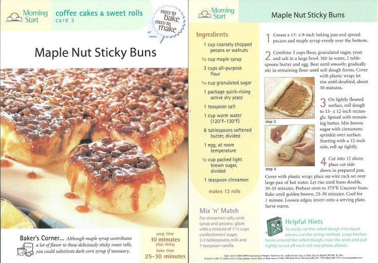 Maple Nut Sticky Bars (L) (JK) | Sweets | Pinterest