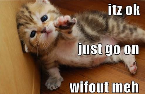 Save yourself... go on without me!
