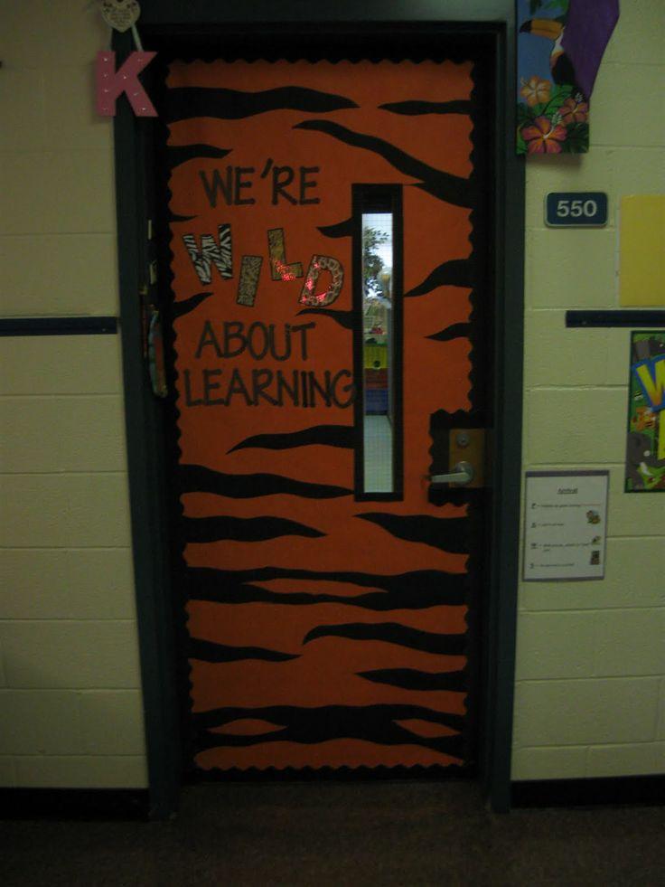 Classroom Decorating Ideas With Zebra Print ~ Jungle classroom door decorations just b use