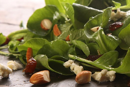 Watercress and Arugula Salad with Blue Cheese, Dates and Almonds