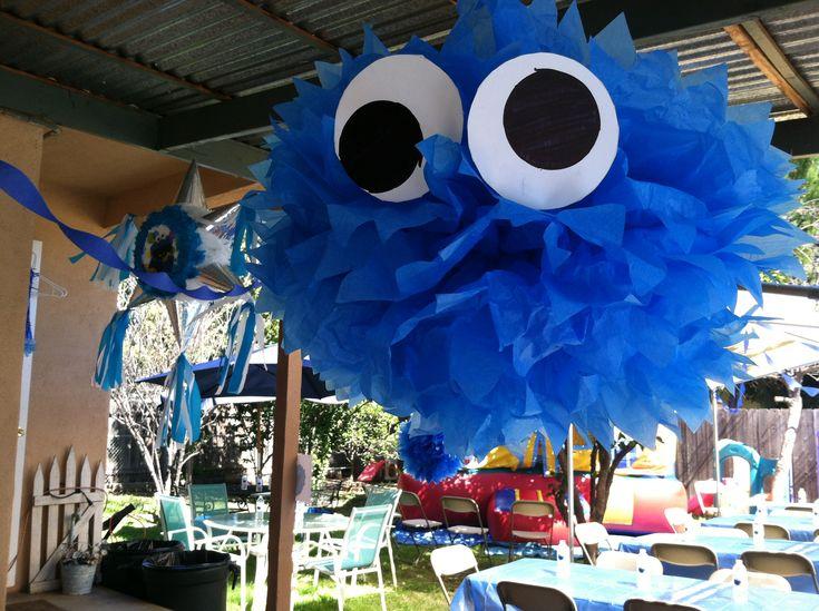 cookie monster baby shower artsy fartsy pinterest