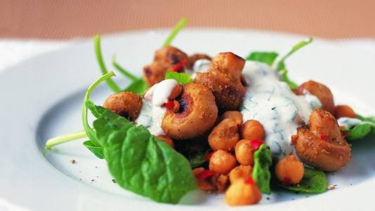 More like this: chickpea salad , chickpeas and salad .