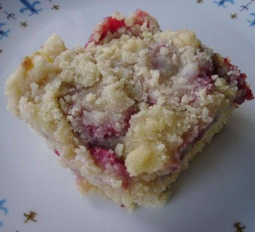 Strawberry Coffee Cake. Just made this but used Cherry Pie Filling ...